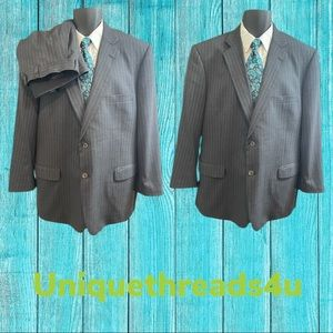 Brooks Brothers Charcoal Grey Pinstripe Suit